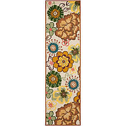 Safavieh Four Seasons Floral Whimsy 2-Foot 3-Inch x 8-Foot Runner in Ivory/brown