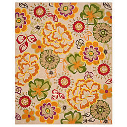 Safavieh Four Floral Seasons Whimsy 8-Foot x 10-Foot Area Rug in Ivory/Green