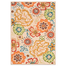 Safavieh Four Seasons Floral Whimsy 5-Foot x 7-Foot Area Rug in Beige/Red