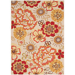 Safavieh Four Seasons Floral Whimsy 4-Foot x 6-Foot Area Rug in Ivory/Red