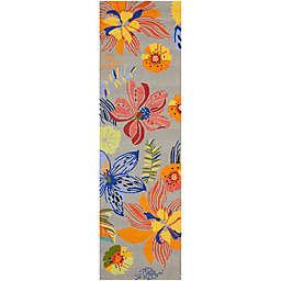 Safavieh Four Seasons Tropical 2-Foot 3-Inch x 6-Foot Runner in Grey/Orange