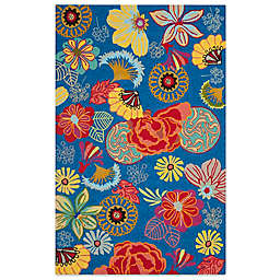 Safavieh Four Seasons Asian Floral 5-Foot x 8-Foot Area Rug in Blue/Red