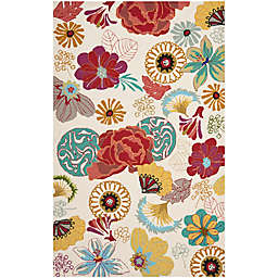 Safavieh Four Seasons Asian Floral 8-Foot x 10-Foot Area Rug in Ivory/Red
