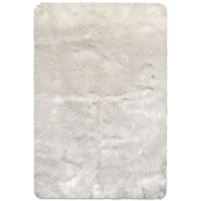Home Dynamix Frost Faux Fur Rug In Ivory