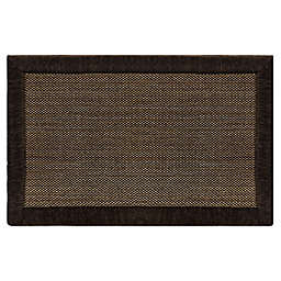 Home Dynamix Gentle Step 1'7 x 2'7 Memory Foam Washable Accent Rug in Brown