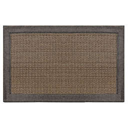 Home Dynamix Gentle Step 1'7 x 2'7 Memory Foam Washable Accent Rug in Grey