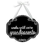 """Pearhead """"Weeks Until We're Grandparents  Chalkboard Sign"""