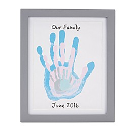 Pearhead Handprint Frame in Grey