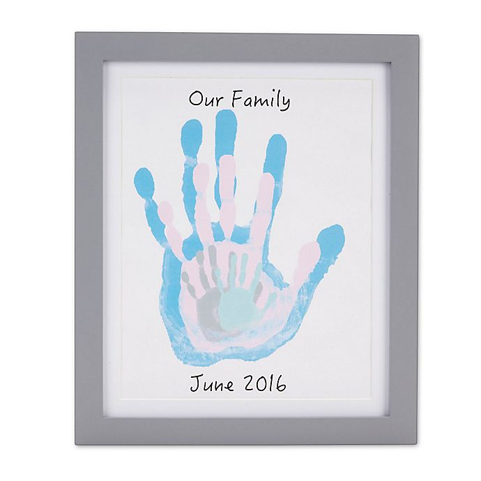 Alternate image 1 for Pearhead Handprint Frame in Grey