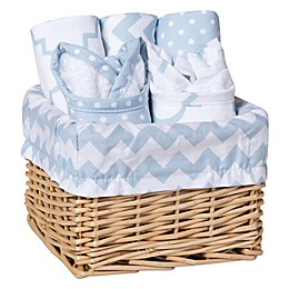 Trend Lab® 7-Piece Feeding Basket Gift Set in Blue Sky