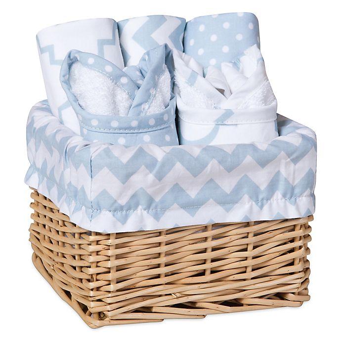 Alternate image 1 for Trend Lab® 7-Piece Feeding Basket Gift Set in Blue Sky