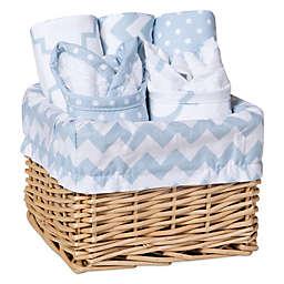 Trend Lab® 7-Piece Feeding Basket Gift Set in Blue Sky