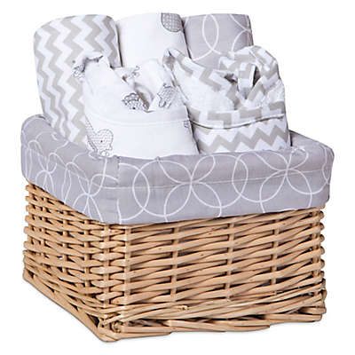 Trend Lab® 7-Piece Feeding Basket Gift Set in Safari Grey