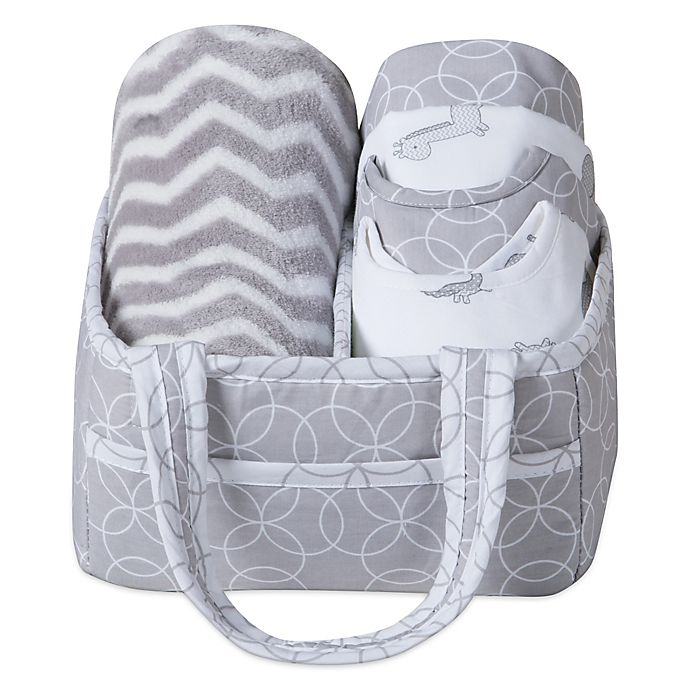 Alternate image 1 for Trend Lab® 6-Piece Baby Care Gift Set in Safari Grey