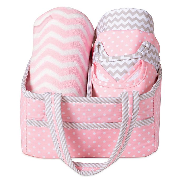 Alternate image 1 for Trend Lab® 6-Piece Baby Care Gift Set in Pink Sky