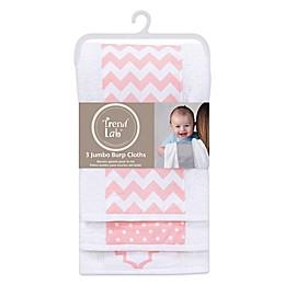 Trend Lab® 3-Pack Jumbo Burp Cloth Set in Pink Sky