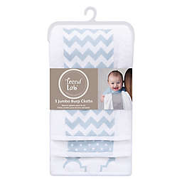 Trend Lab® 3-Pack Jumbo Burp Cloth Set in Blue Sky