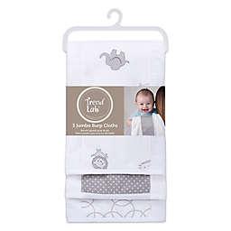 Trend Lab® 3-Pack Jumbo Burp Cloth Set in Safari Grey