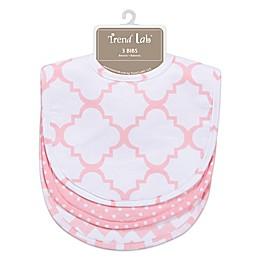 Trend Lab® 3-Pack Bib Set in Pink Sky