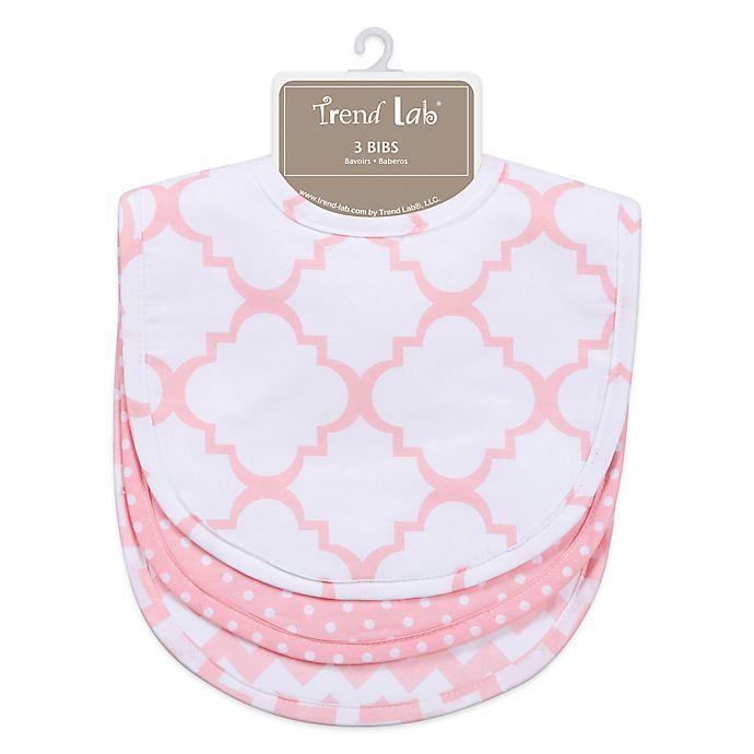 Alternate image 1 for Trend Lab® 3-Pack Bib Set in Pink Sky