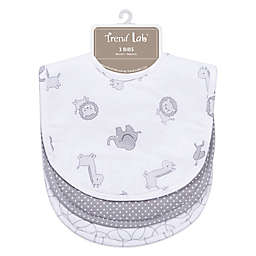 Trend Lab® 3-Pack Bib Set in Safari Grey