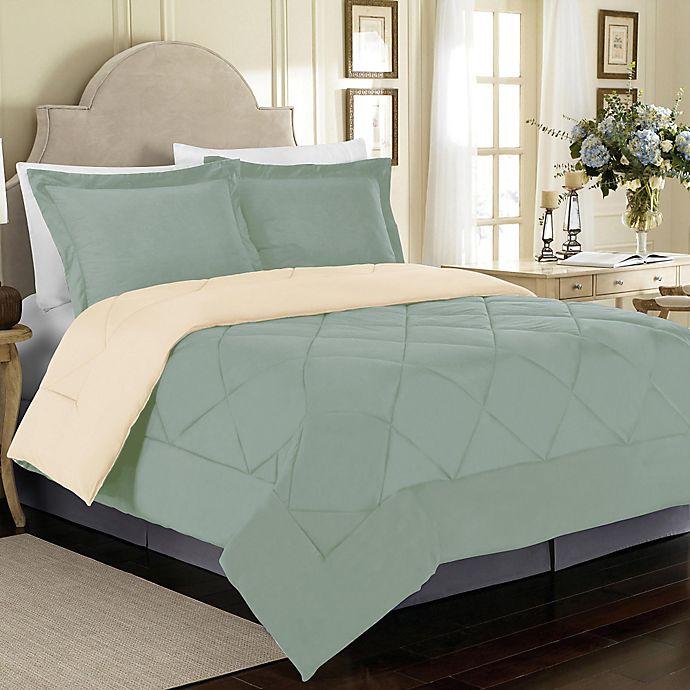 Alternate image 1 for Solid Reversible Comforter Set