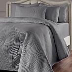 Brielle Stream King Quilt Set in Grey
