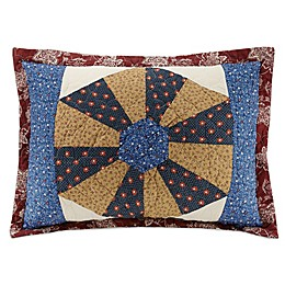 Mary Jane's Home Busy Bee Standard Pillow Sham in Blue/Red