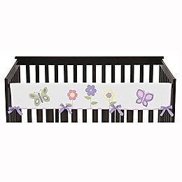 Sweet Jojo Designs® Butterfly Long Crib Rail Guard in Pink/Purple