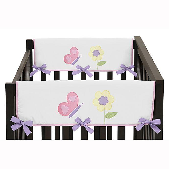 Sweet Jojo Designs Erfly Side Rail Guard In Pink Purple Set Of 2