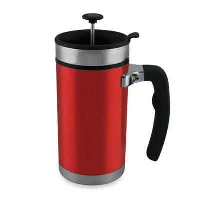 Planetary Design Desk Press 20-Ounce French Press Travel Mug in Red
