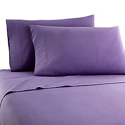 Micro Flannel® Solid California King Sheet Set in Plum