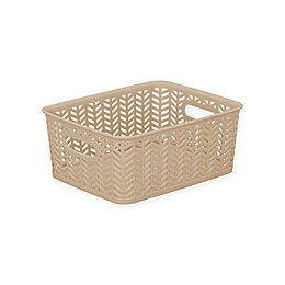 Simplify Herringbone Storage Bin