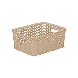Simplify Herringbone Storage Bin
