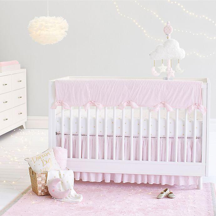 Alternate image 1 for Just Born® Sparkle Crib Bedding Collection in Pink