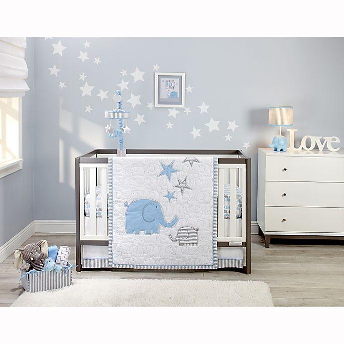 Alternate image 1 for Zutano® Elefant Blau 4-Piece Crib Bedding Set