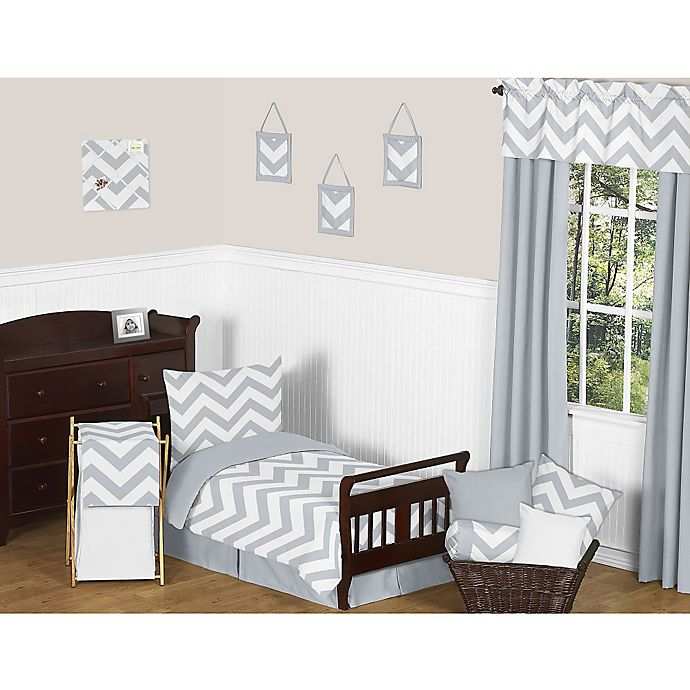 Sweet Jojo Designs Grey and White Chevron Bedding