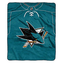 NHL San Jose Sharks Super-Plush Raschel Throw Blanket