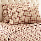 Micro Flannel® Carlton Plaid King Sheet Set in Tan