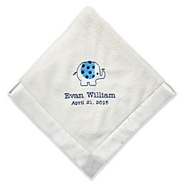 Sweet Elephant Baby Blanket with Satin Trim