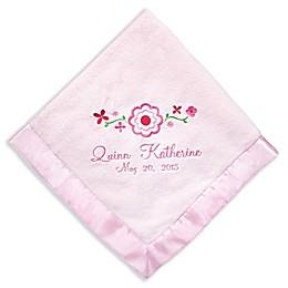 Pretty Flowers Baby Blanket with Satin Trim