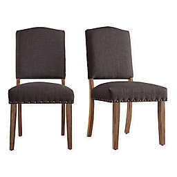 iNSPIRE Q® Radcliffe Shield Back Dining Chairs in Dark Grey (Set of 2)