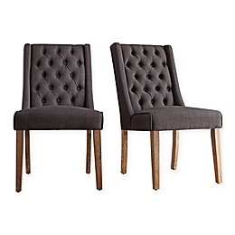 iNSPIRE Q® Radcliffe Button-Tufted Wingback Hostess Chair (Set of 2)