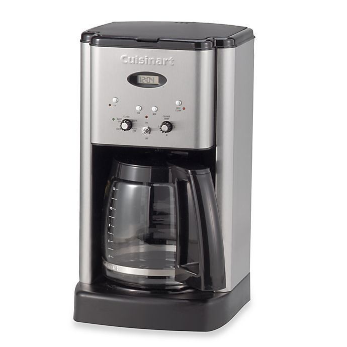 Alternate image 1 for Cuisinart® Brew Central™ 12-Cup Programmable Coffee Maker in Stainless Steel