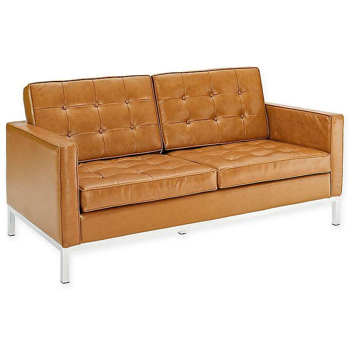 Astounding Modway Leather Mid Century Modern Loveseat Bralicious Painted Fabric Chair Ideas Braliciousco