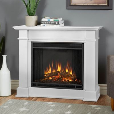 Real Flame® Devin Electric Fireplace In White by Bed Bath And Beyond