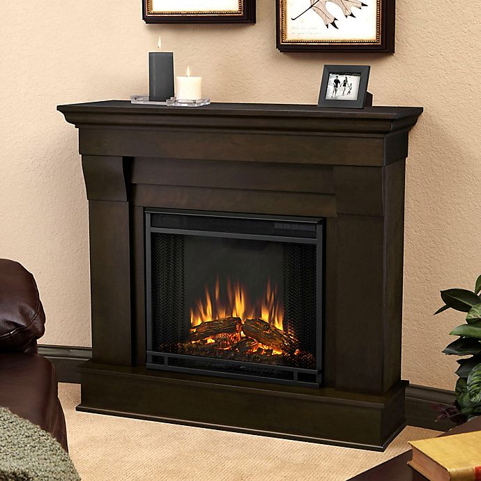 Alternate image 1 for Real Flame® Chateau Electric Fireplace in Walnut