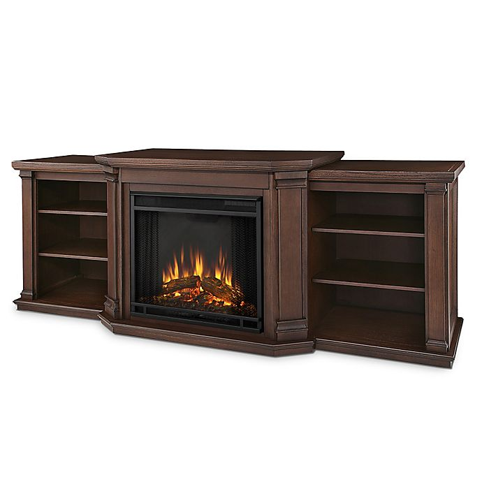 Real Flame Valmont Entertainment Center Electric Fireplace Bed