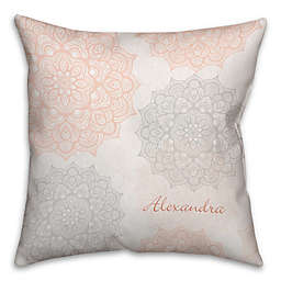 Floral Square Throw Pillow in Blue/Pink