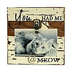 Sweet Bird Meow 8 x8  Clip Wood Picture Frame in White